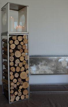 Lanterna in legno e acciaio serie MUM