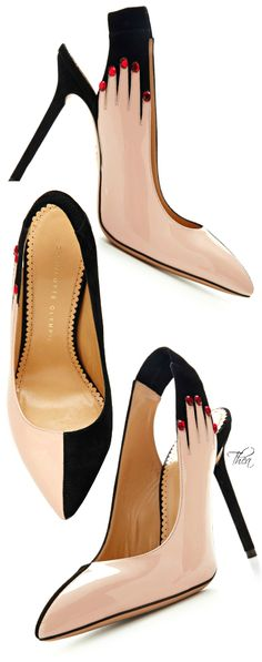 Charlotte Olympia ● FW 2014, Hands Up Suede and Patent Leather