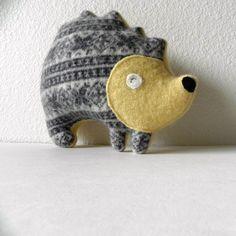 the Hedgehog: Petite Plush.  via Etsy.