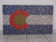 Beer Cap Colorado Flag by BustinCaps on Etsy, $125.00