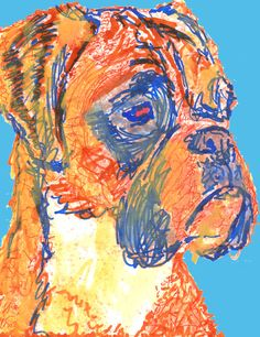 Boxer Dog Print, Boxer dog painting, Boxer dog owner gift, Boxer mom, Boxer dog wall art, Boxer dog decor, Boxer dog… #dogs #pets #puppy