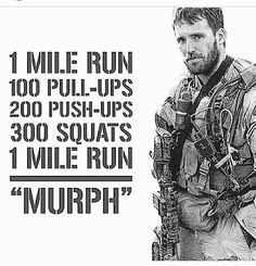 "CrossFit Hero Workouts, the original ""MURPH"" Try it - you'll be so proud of yourself upon completing the WOD.(Try Workout) Crossfit Hero Workouts, Motivation Crossfit, At Home Workouts, Crossfit Humor, Murph Workout, Cardio Gym, Workout Gear, Summer Workouts, Calisthenics Workout"