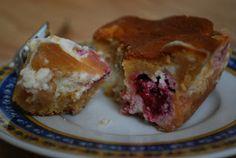 Upiecz mnie: Cheese-toffee cake with raspberries