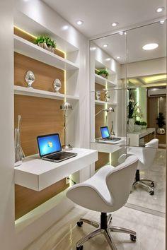 Apartamento Jundiaí: Escritórios  por Designer de Interiores e Paisagista Iara Kílaris