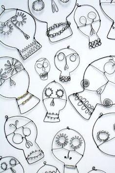Sugar skulls...fifth grade wire project?