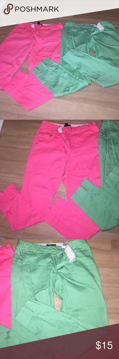 H&M Capri 2 hm pants trousers capris sip front clasp closer H&M Pants Capris