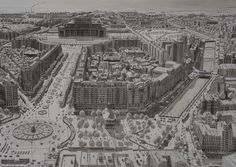 Stefan Bleekrode's Drawings Recreate Cityscapes from Memory,Bucharest, Romania. Image © Stefan Bleekrode