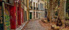 Cobblestone street, Avingnon France