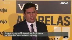 """Durante evento em SP, Moro diz que Brasil precisa de """"Plano Real"""" pa..."""