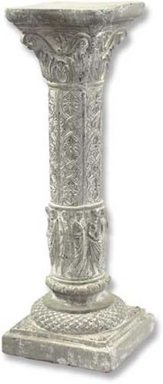 Twisted Outdoor Garden Pedestal Column available at AllSculptures