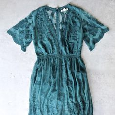 as you wish embroidered lace maxi dress (women) - teal - shophearts - 1