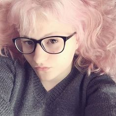New prescription glasses and new (temporary dye) hair. #pink #candyfloss #cottoncandy #hair #pastel #pastelgoth #rose #witchesofinstagram #geek #glasses #geekglasses #selfie #pagansofinstagram #nomakeup