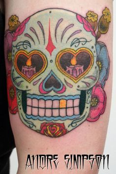 Mexican Flower Tattoo Mexican-sugar-skull-and-flower ...