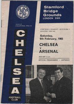Vintage Football (soccer) Programme - Chelsea v Arsenal, 1964/65 season