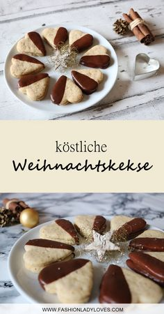 Christmas cookies that taste like grandma& A simple recipe for delicious . Christmas Biscuits, Best Christmas Cookies, German Baking, Cake & Co, Sweets Cake, Baking Recipes, Delicious Desserts, Food And Drink, Easy Meals