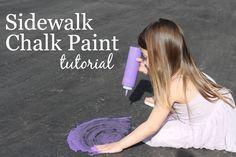DIY Sidewalk Chalk P