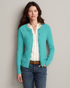 Christine Cardigan and Vintage Underpinning. My two favorites!! From Eddie Bauer