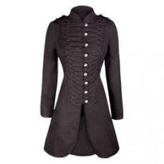 Long Black Cotton Coat