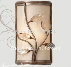 99.99$  Buy here - http://alitv0.worldwells.pw/go.php?t=1593949064 - Ecolight Free shipping Vintage Wall Sconces lamp Wall Lamp Countryside Style Bedroom Living Room Wall Sconce 99.99$