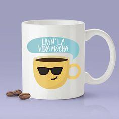 @ideasbyarianna   Livin' La Vida Mocha - Funny - Coffee Mug [Great Gift For A Lover or Friend]
