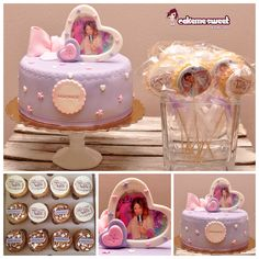 Violetta disney party set by cakemesweet