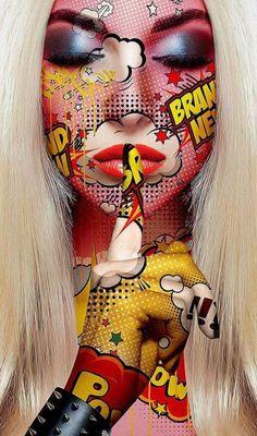 24 Ideas for pop art comic face Art Pop, Pop Art Girl, Fantasy Kunst, Fantasy Art, Dope Kunst, Portfolio D'art, Images Pop Art, Desenho New School, Comic Kunst