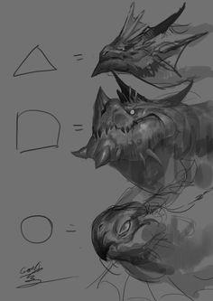 Monster Concept Art, Fantasy Monster, Monster Art, Creature Concept Art, Creature Design, Creature Drawings, Animal Drawings, Fantasy Character Design, Character Art