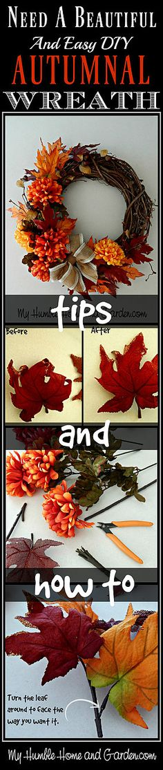 Need a Beautiful and Easy DIY  Autumnal Wreath?