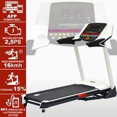 Laufband T14 App-Bluetooth Media Treadmill BESCHREIBUNG | AsVIVA Bluetooth für Android & IOS Apps Geschwindigkeit 1 - 16 km/h Dämpfung 2 Schichten & 6 Zonen Motorleistung Dauerleistung...