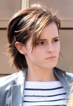 emma watson is definitely growing her pixie out
