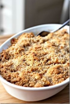 VISIONS OF SUGAR PLUM: Peach Crisp
