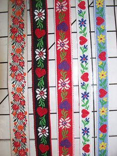 Swiss jacquard ribbons
