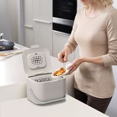 London design studio PearsonLloyd has added to its Intelligent Waste collection of rubbish and recycling bins for kitchenware brand Joseph Joseph. Food Waste Recycling, Recycling Bins, Kitchen Kit, Kitchen Ideas, Yard Waste, Joseph Joseph, Kitchen Worktop, The Fresh, Cooking