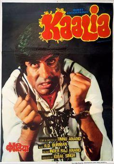 "Kaalia (1981) This Tinnu Anand directed movie, stared Amitabh Bachchan, Parveen Babi, Pran and Amjad Khan. Music by R.D. Burman had great songs like ""Jab Se Tumko Dekha"", ""Kaun Kisi Ko Baandh Saka"", ""Tum Saath Ho Jab Apne"" and the awesome Kishore Kumar song ""Jahan Teri Yeh Nazar Hai"""