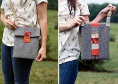 Scrappy Stripe Tablet Bag | Sew Mama Sew |