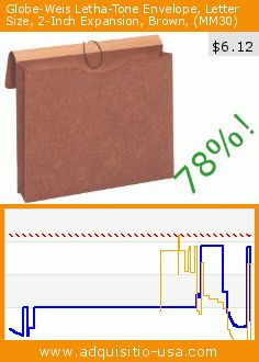 GlobeWeis LethaTone Envelope Letter Size Inch Expansion