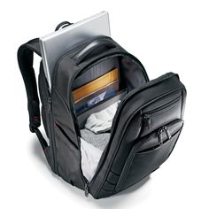 Samsonite Xenon 2 PFT Backpack w/ Laptop Pocket in Black -- See this great product. (This is an affiliate link) Best Laptop Backpack, Laptop Briefcase, Leather Laptop Bag, Small Backpack, Travel Backpack, Black Backpack, Amazon Clothes, Suitcase Bag, Business Laptop