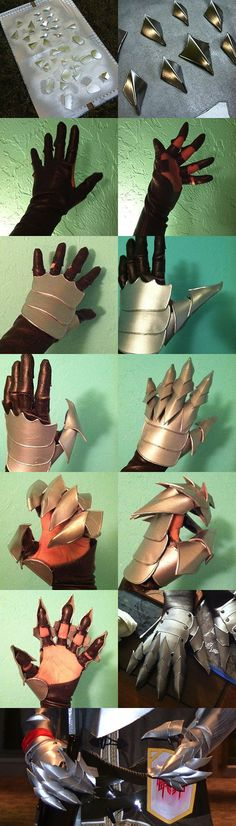 Gauntlet process... would be great for a Nazgûl cosplay or for making armored gloves: