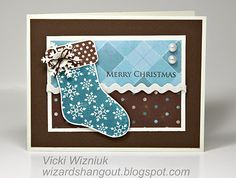 """Christmas card using Close To My Heart """"Wonderland"""" paper pack"""