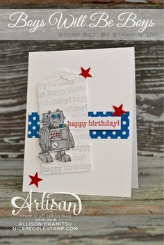 Boys Will Be Boys Birthday Card