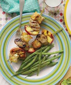 Get the recipe for Chicken Sausage and Peach Skewers - WWPP - 12 .
