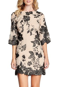 This chiffon shift dress from Dress the Population is oh so elegant and beautiful.