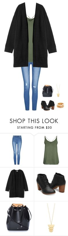 """""""Untitled #422"""" by jasmine2001 ❤ liked on Polyvore featuring Topshop, TOMS, N°21, Gorjana and Kenneth Jay Lane"""