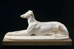 "What a gorgeous greyhound! Horatio Greenough ""Arno"" American, 1839."