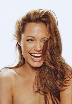 Angelina's smiling