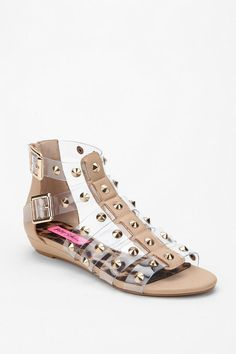 Betsey Johnson Studed Gladiator Sandal. I love these, I would love these even more in black!