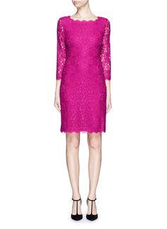 DIANE VON FURSTENBERG 'Zarita' Floral Lace Sheath Dress. #dianevonfurstenberg #cloth #dress