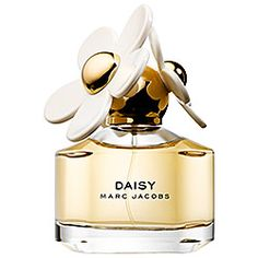 Marc Jacobs Fragrance - Daisy: fresh and feminine, floral with vintage edge of violet. Sophisticated, with a touch of whimsy, Always elegant, always enchanting—but not too serious—Daisy is a sparkling floral bouquet, spirited and fresh, wrapped in comfort and warmth. Notes:Strawberry, Violet Leaves, Ruby Red Grapefruit, Gardenia, Violet Petals, Jasmine Petals, Musk, Vanilla, White Woods. Style:Bright. Alluring. Eternal.