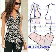 blouse mold with balls Dress Sewing Patterns, Blouse Patterns, Clothing Patterns, Blouse Designs, Pattern Sewing, Fashion Sewing, Diy Fashion, Ideias Fashion, Fashion Tips