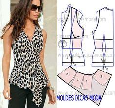 Moldes de blusas bonitas para damas01